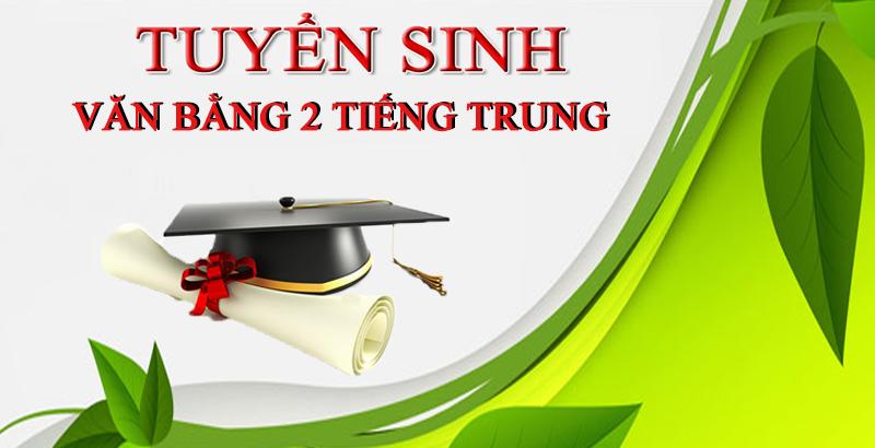 thông báo tuyển sinh văn bằng 2 tiếng Trung
