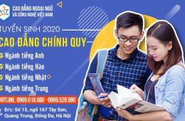 Thông Báo Tuyển Sinh Cao Đẳng Ngoại Ngữ Chính Quy 2020