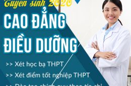 Thông báo tuyển sinh Cao đẳng Điều dưỡng năm học 2020 – 2021