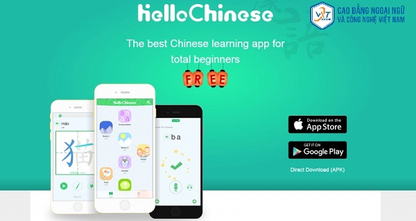 ứng dụng học tiếng Trung trên iphone