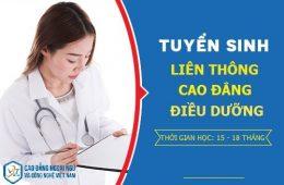 Thông báo tuyển sinh liên thông cao đẳng điều dưỡng học ngoài giờ hành chính