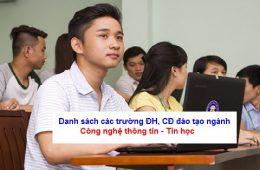 Các trường có ngành công nghệ thông tin