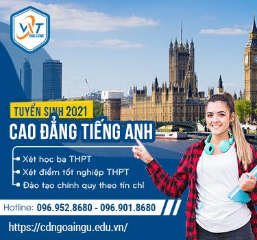 Thông báo tuyển sinh Cao đẳng tiếng Anh hệ chính quy năm 2021